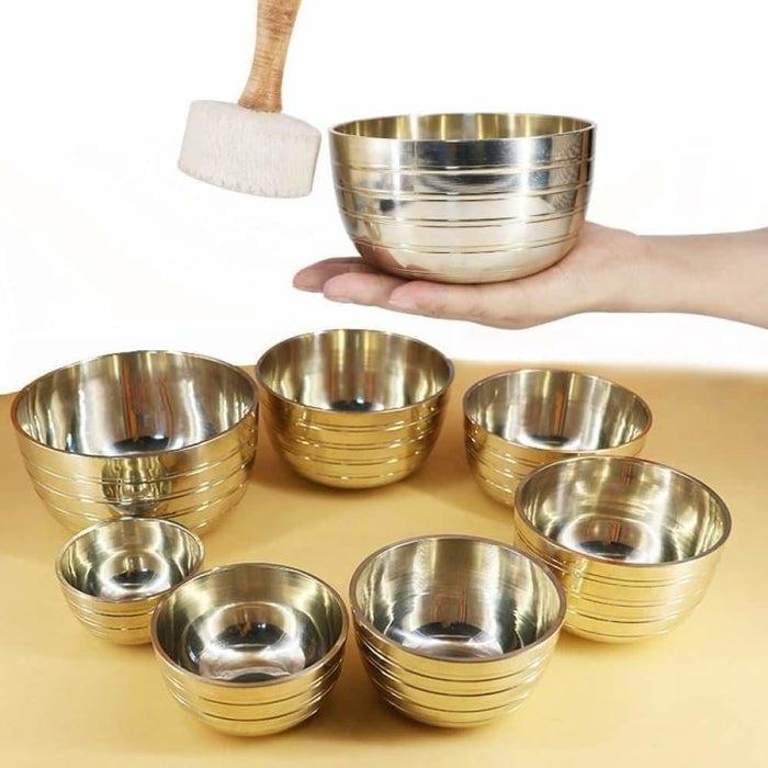 Himalayan Singing Bowl Sets Chakra Healing Tibetan Hammered Himalayan Singing Bowl Set of 7 Meditation Bowls Hand Bow 7 Note Set