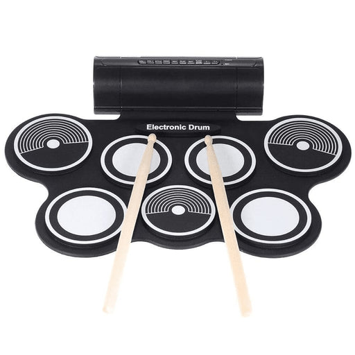 Silicone Electronics Drum Pad Kit Portable Digital USB Roll-up Drum Electronic with Drumstick Foot Pedal Foldable