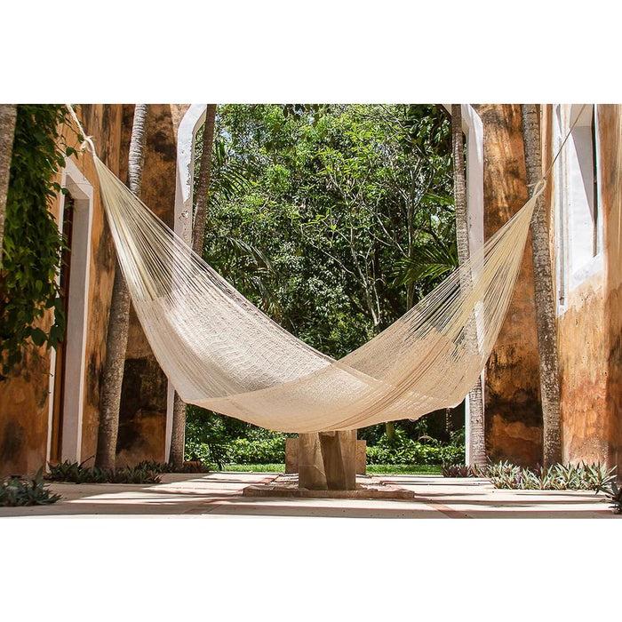 Single Size Cotton Mexican Hammock in Cream Colour - Home &
