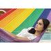 Single Size Cotton Mexican Hammock in Rainbow Colour