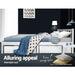 Single Size Wooden Bed Frame - White - Furniture > Bedroom