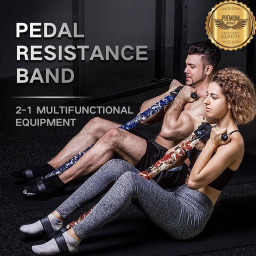 INNSTAR Sit Up Assist Resistance Band Equipment Fitness home gym Elastic Arm Stretching Pull Rope Foot Pedal Workout Tube sport