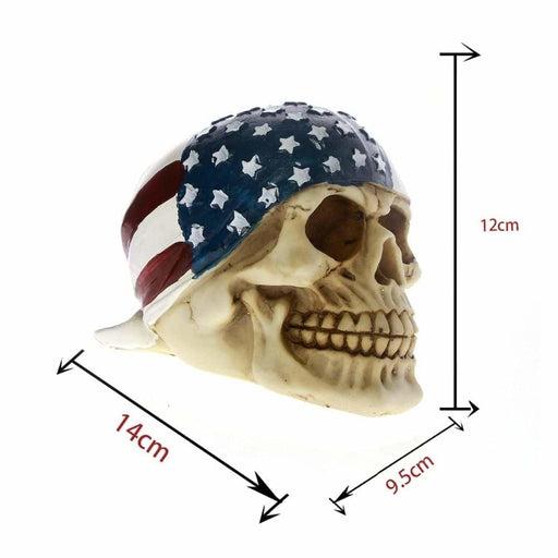 Skull with Usa Flag Bandana - INTSKCRZ