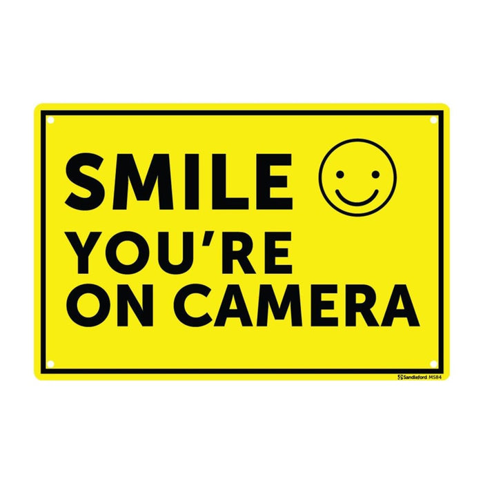 Smile You're On Camera Sign goslash fast delivery fast delivery