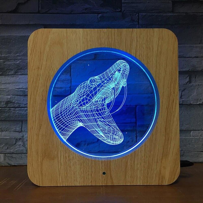 Snake Koba 3D Wooden Grain Night Light DIY Customized Lamp Table Lamp Friends Birthday Colors Gift Home Decor Fast DropShipping