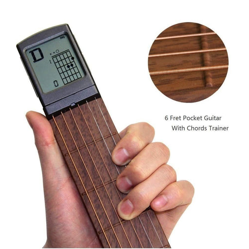 SOLO Portable Pocket Guitar Chord Trainer Practice Tools Rotatable Chords Chart Screen Guitar Finger Exerciser for Beginner