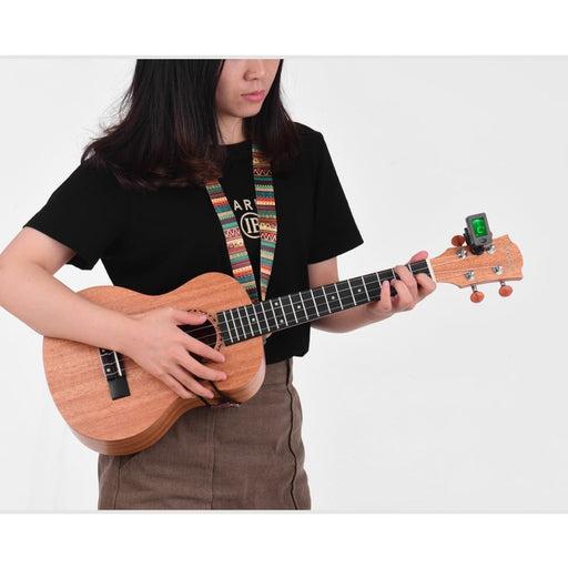 21 Inch Soprano Ukulele Ukelele Mahogany Plywood with Carry Bag Uke Strap Strings Clip-on Tuner Cleaning Cloth Capo 3pcs Cellulo