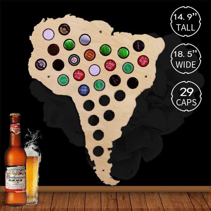 South American Beer Cap Map - BEERMAP
