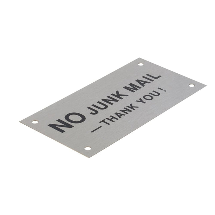Stainless Steel No Junk Mail Sign goslash fast delivery fast delivery