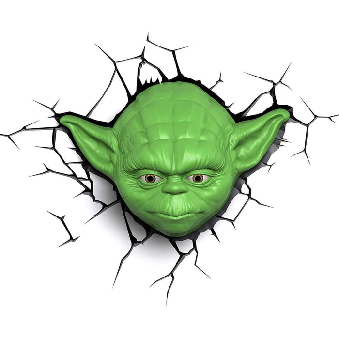 Star Wars Yoda Face 3D Deco LED Wall Light goslash fast delivery fast delivery