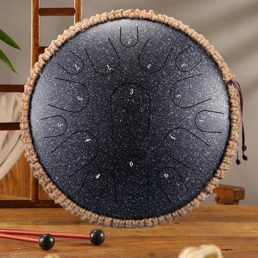 Steel Tongue Drum 13 Inch 15 Tone Drum Handheld Tank Drum