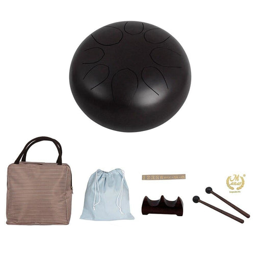 10 Inch Steel Tongue Drum Hand Pan Drum with Drum Mallets Carry Bags Note Sticks Percussion Instrument