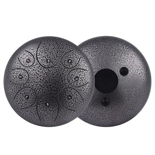10 Inch Steel Tongue Drum Handpan Drum Hand Drum with Drum Mallets Carry Bag Note Sticks for Meditation Yoga Zazen Sound Healing