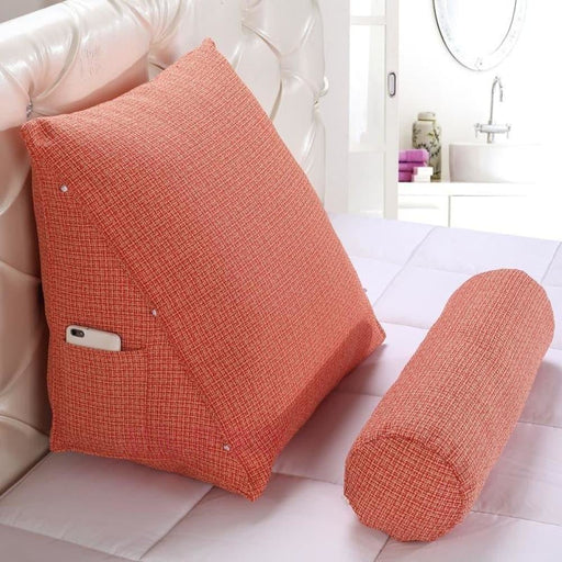 Stereo Triangle Cushion Bed Backrest protect Lumbar and neck Tatami Cushion Sofa Bedside Sofa bedside pillow