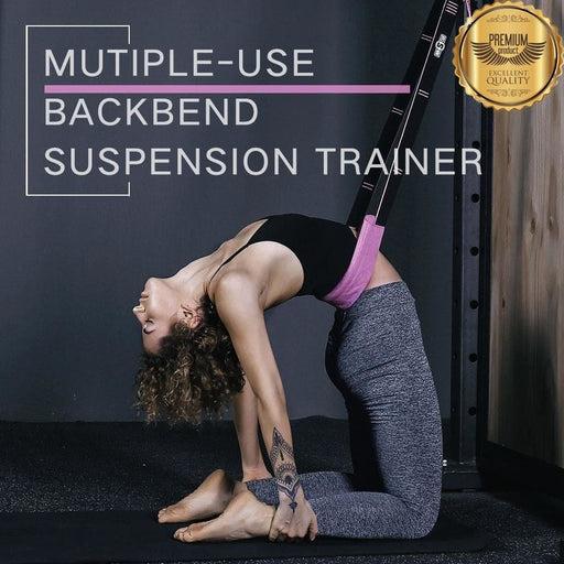 INNSTAR Suspension Backbend Assist Trainer Yoga Fitness Stretching Strap Adjustable Leg Stretcher Hanging Belt Sport Gym Workout