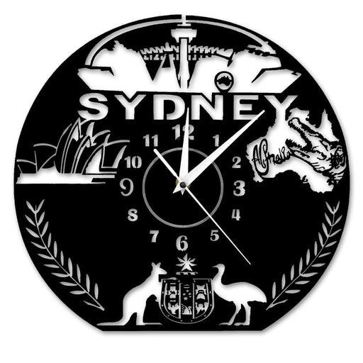 Australia Sightseeing Sydney Opera House Wall Clock Sydney Cityscape Skyline Hanging Wall Watch Clock Australia Travel Gift