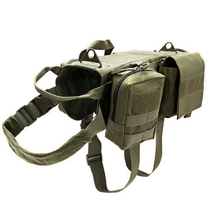 Tactical Waterproof Dog Modular Harness Dog Vests Green / S
