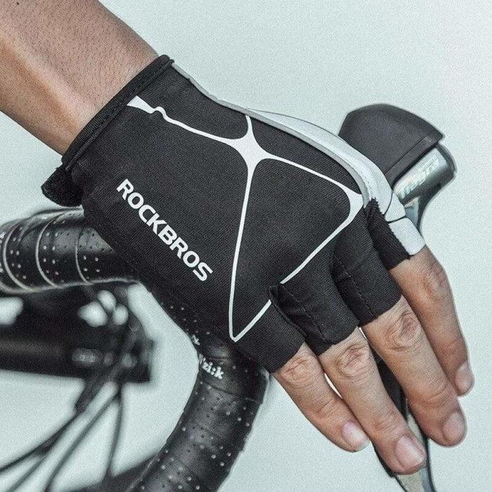 ROCKBROS Bicycle Gloves Breathable Half Finger Reflective