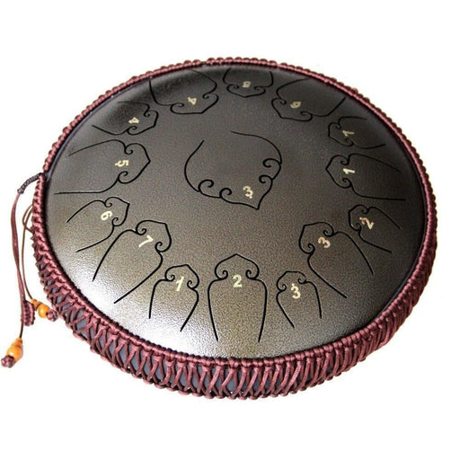 Tongue Drum 14 Inch 15 Notes Handpan Drum Tank Drum Chakra Drum for Meditation, Yoga and Zen with Travel Bag