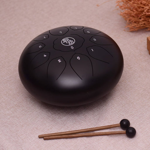 11 Inch Tongue Drum Mini 11-Tone Steel Tongue Drum C Key Hand Pan Drum with Drum Mallets Carry Bag Percussion Instrument