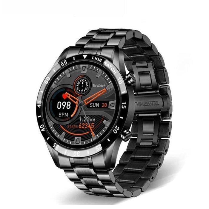 Full Touch Screen Men Fitness Smart Watch Waterproof Watch