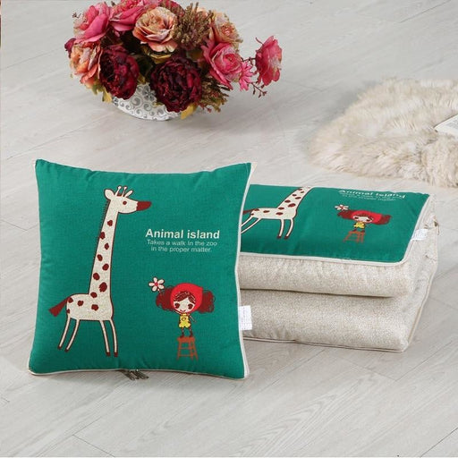 Travel portable cushions can be blanket Dual-use car cushion pillow air conditioning quilts Sofa cushions quilt Office napping c