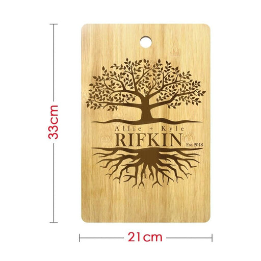 Tree Of Life Personalized Couple Name Cutting Board Family Tree Eco Friendly Chopping Board Wedding Tree Couple Anniversary Gift (330x210mm)