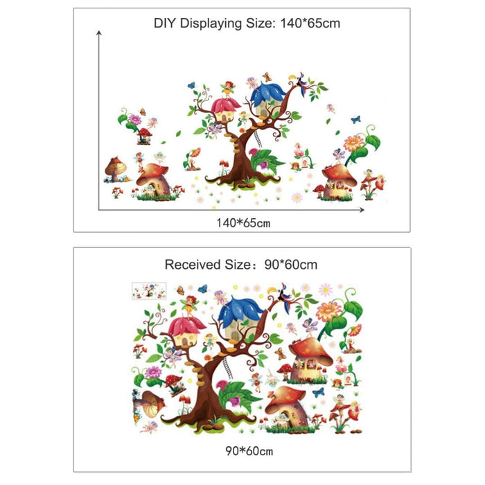 Butterfly Flower Fairy Laraine Wall Stickers Tree and