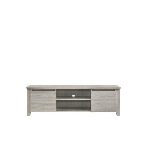 Tv Stand Entertainment Unit 120cm in White Oak - Furniture >