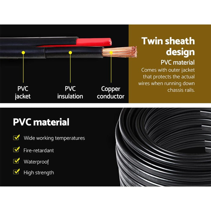 Twin Core Wire Electrical Automotive Cable 2 Sheath 450v 6mm