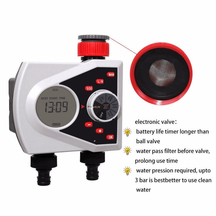 Two Outlets Digital Automatic Watering Sprinkler Timer and