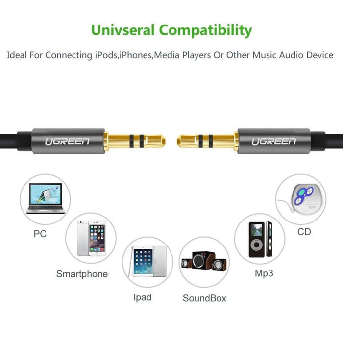 Ugreen 3.5mm Male to 3.5mm Male Audio Cable 1m (10733) -
