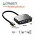 UGREEN Mini Display Port to HDMI & VGA Dual Converter Premium ABS case - Black (10439)