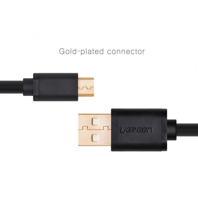 Ugreen Micro Usb Male to Usb Male Cable Gold-plated - White