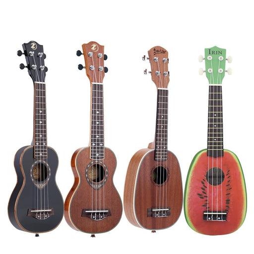 """ammoon 21"""" Ukulele Sapele Acoustic Ukulele 15 Fret 4 Strings Stringed Musical Instrument 19 Styles for Option"""