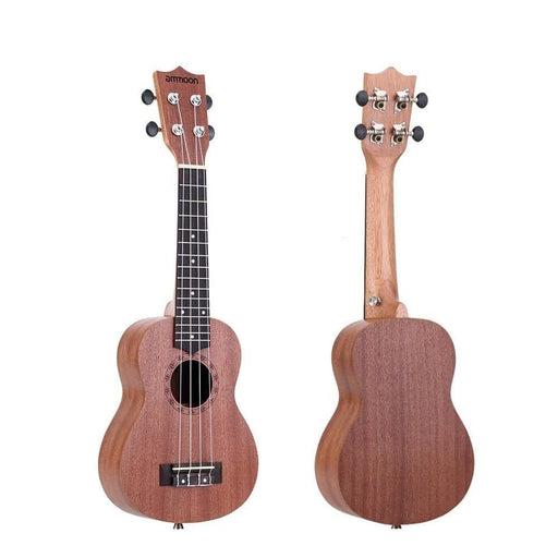 """ammoon 21"""" Ukulele Sapele Acoustic Ukelele Mini Hawaii Guitar 15 Fret 4 Strings Ukulele Guitar Musical String Instrument"""