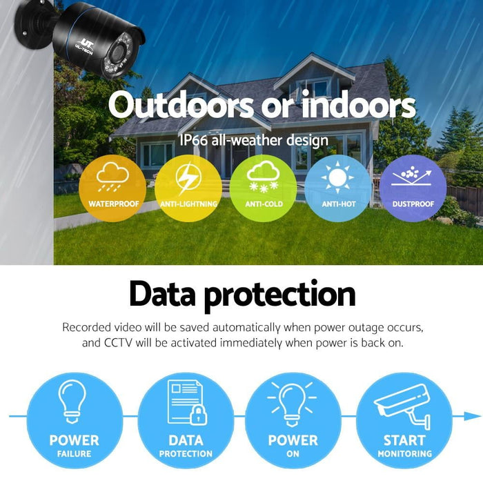 Ul Tech 1080p 4 Channel Cctv Security Camera - Audio & Video