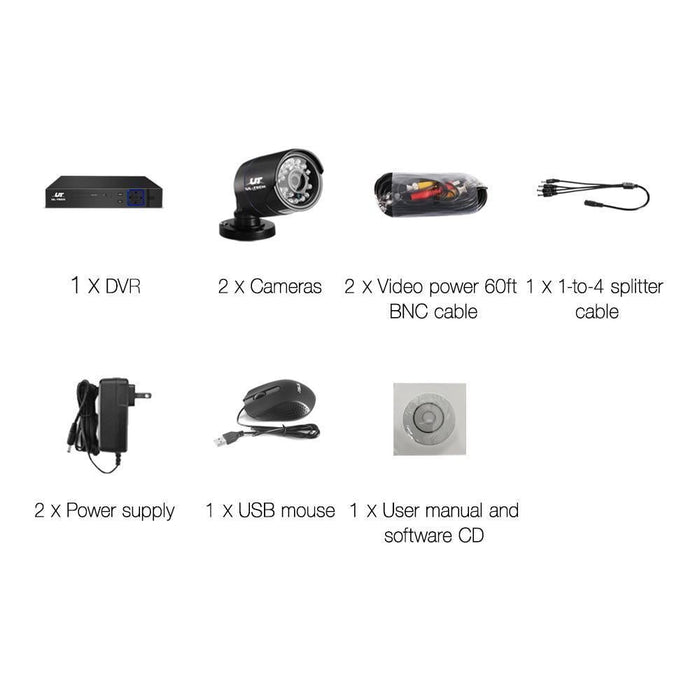 UL Tech 1080P 4 Channel CCTV Security Camera goslash fast delivery fast delivery