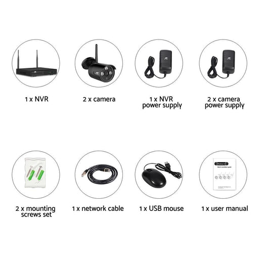 UL-TECH 1080P 4CH Wireless Security Camera NVR Video goslash fast delivery fast delivery