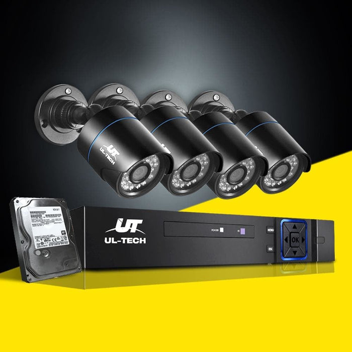 Ul Tech 1080p 8 Channel Hdmi Cctv Security Camera with 1tb