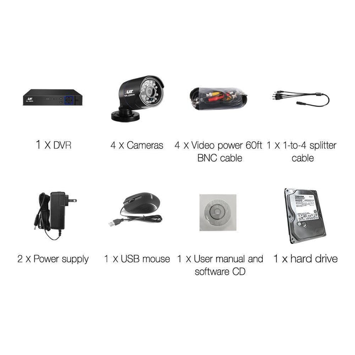 UL Tech 1080P 8 Channel HDMI CCTV Security Camera with 1TB Hard Drive goslash fast delivery fast delivery