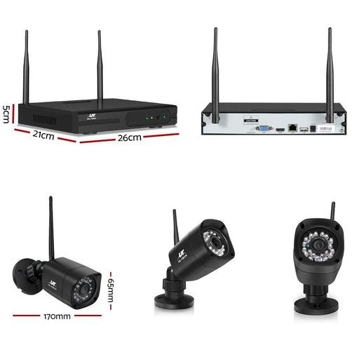 Ul-tech 1080p 8ch Nvr Wireless 4 Security Cameras Set -