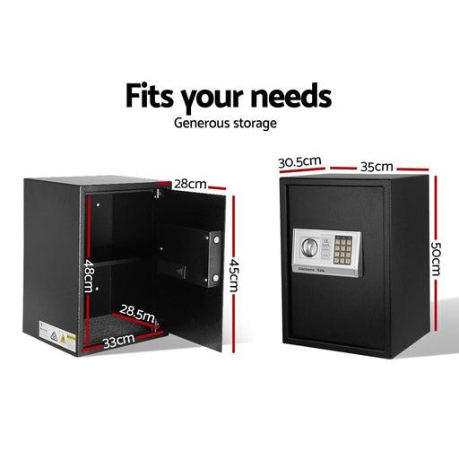 Ul-tech Electronic Safe Digital Security Box 50cm - Home &