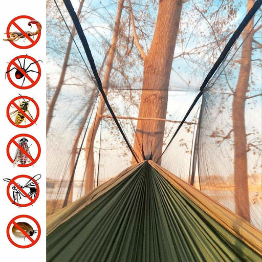 Ultralight Encrypted Mosquito Net Parachute Hammock with Anti-Mosquito Bites for Outdoor Camping Tent Using Sleeping