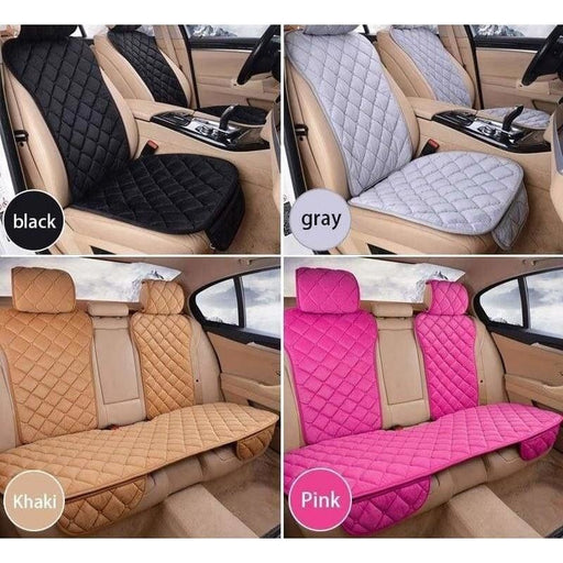 Universal Car Seat Cover Plush Automobiles Seat Covers Front Rear Seats Protector Mats Warm in Winter Car Interior Accessories
