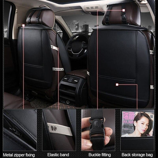 Universal Car Seat Cover Set Accessories Fit Most Cars Car Styling Covers Pads With Tire Track Detail Mats Auto Seats Protector