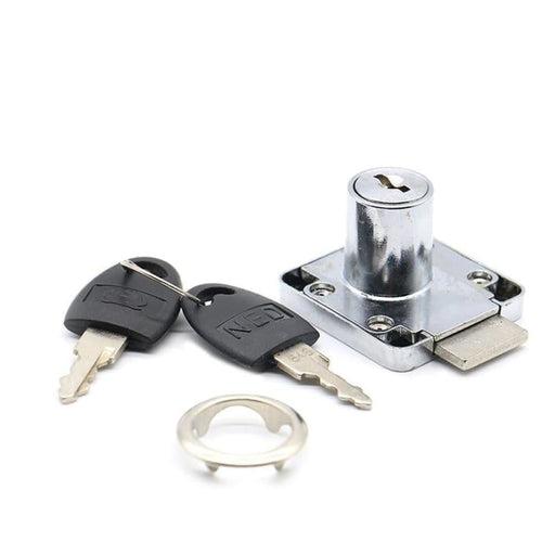 NAIERDI-138 Universal Drawer Cam Lock Zinc Alloy Cabinet Office Cupboard Desk Locks With Iron/Plastic Key For Furniture Hardware