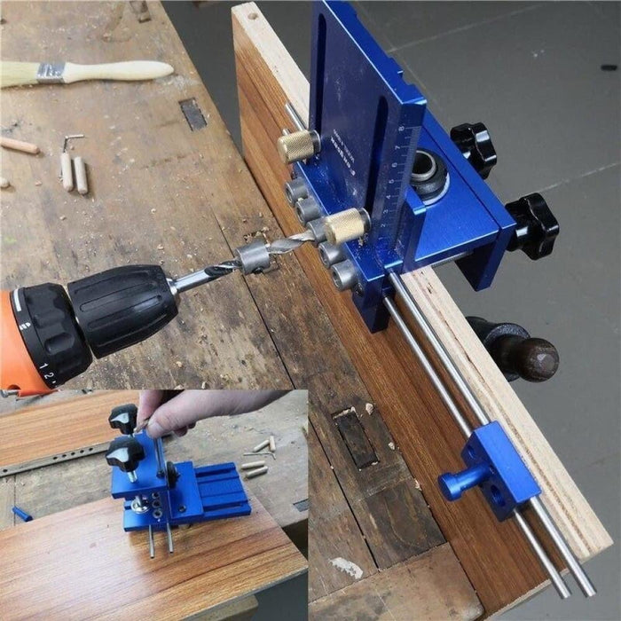 Upgraded Dowelling Jig Set High Precision Woodworking Tool Drill Guide DIY Hole Drilling Locator Tool Kit