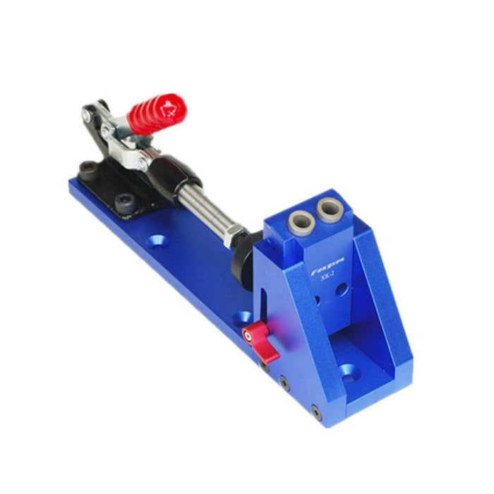 MithBros Upgraded Pocket Hole Jig with Toggle Clamp and 9.5mm Drill Bit Screwdriver for Carpenter Wood Working & Joinery Tools