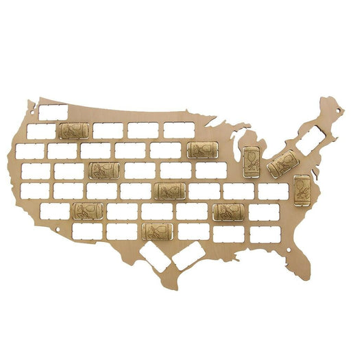 USA Wine Cork Map Wine Cork Reused Display Wall Map Wine Cork Trap Collection USA Wall Art Wine Lovers Gift Plywood Craft Map